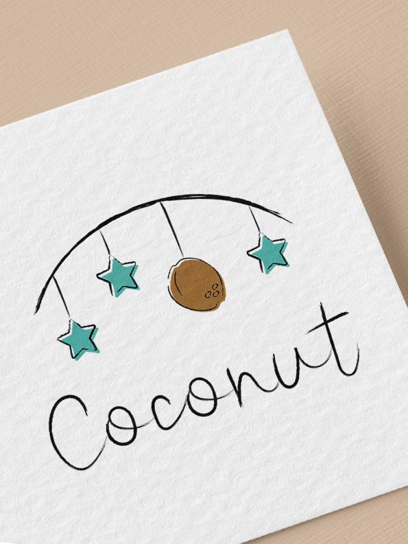 logo et branding pour la marque Coconut